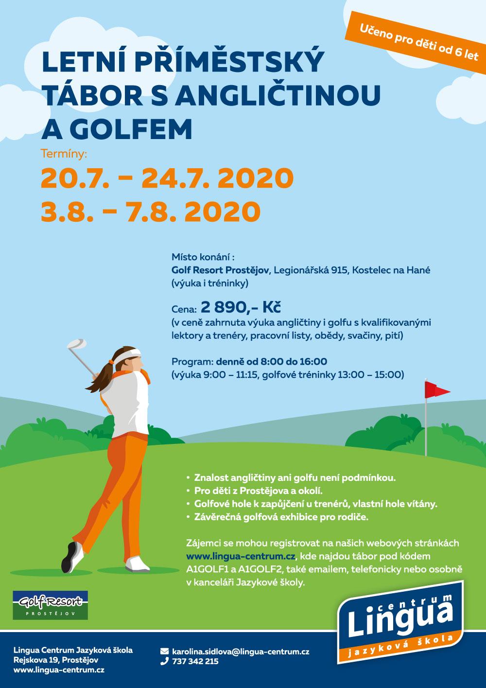 Letní příměstský tábor s angličtinou a golfem 2020