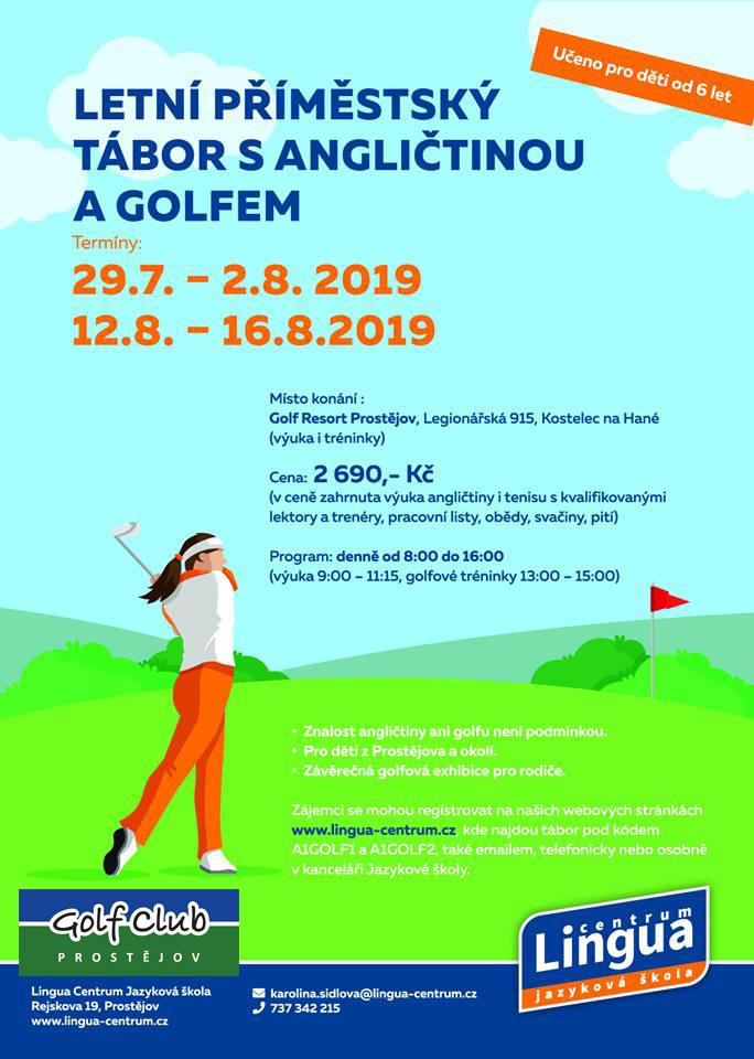 Letní příměstský tábor s angličtinou a golfem 2019